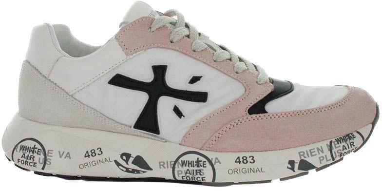 Buty sportowe damskie Premiata 3057 ZAC-ZAC biało-różoweVAR3057