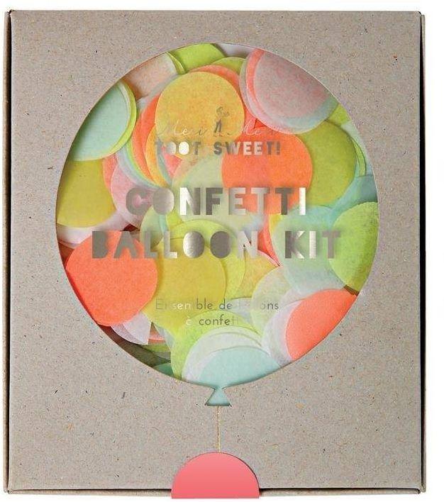 Zestaw balonów konfetti neonowe
