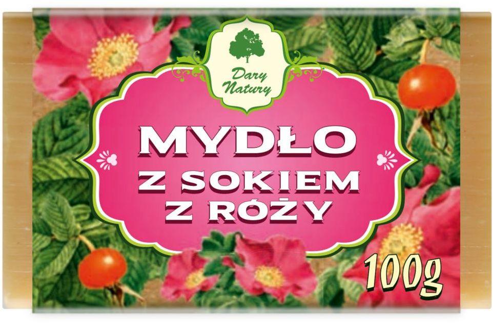 Mydło z sokiem z róży 100 g - dary natury