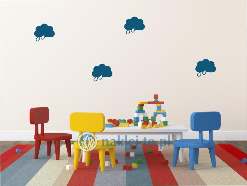 naklejka chmurka z deszczem 4 naklejka na ścianę