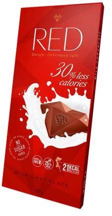 Czekolada RED mleczna bez cukru Delicious & light 100 g Red