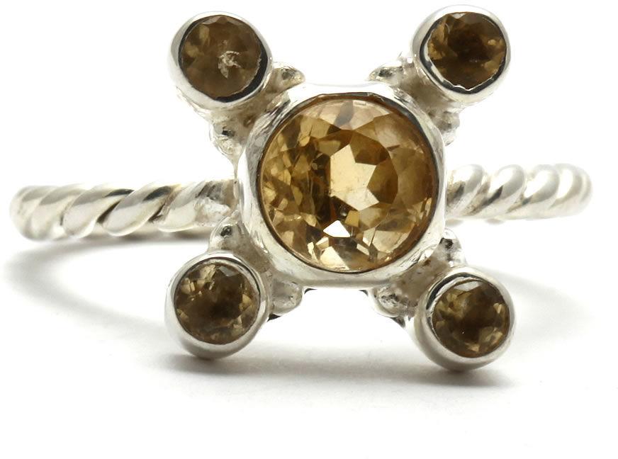 Kuźnia Srebra - Pierścionek srebrny, rozm. 14, Cytryn, 3g, model