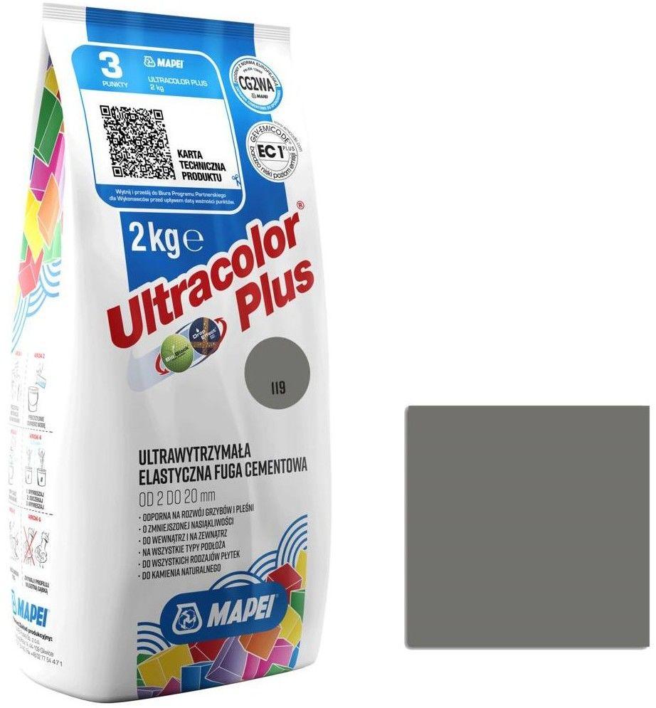 Fuga elastyczna Mapei Ultracolor Plus 119 londyński szary 2 kg