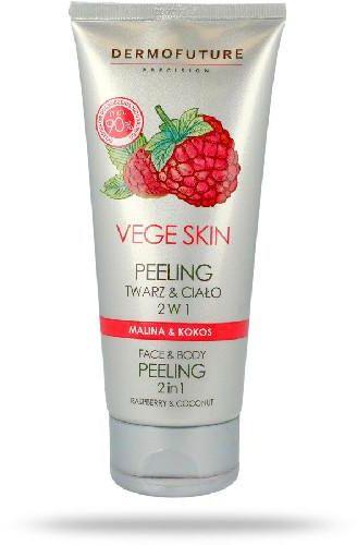 DermoFuture Vege Skin peeling do twarzy i ciała malina i kokos 200 ml