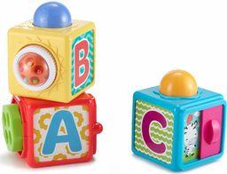 Fisher-Price, Aktywne Klocki Ze Zwierzątkami Zestaw 3 Klocków Zabawka Dla Dzieci DHW15