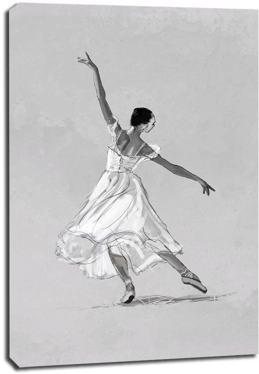 Baletnica - obraz na płótnie wymiar do wyboru: 30x40 cm