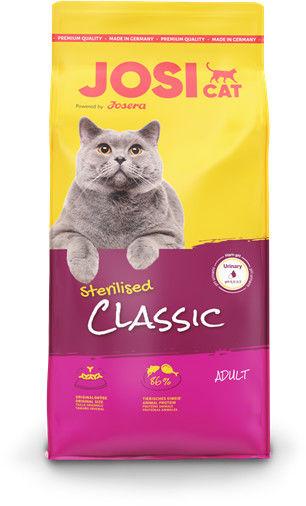 JOSERA JosiCat Classic Sterilised 18kg + niespodzianka dla kota GRATIS!