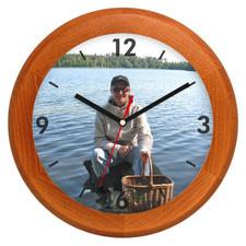Zegar ścienny LOGO drewniany rondo