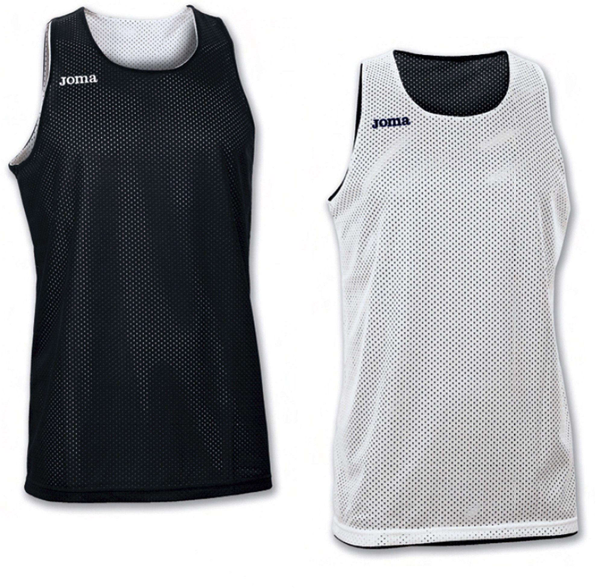 Dwustronna koszulka Joma Reversible Aro white/black (10 szt.)