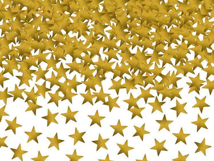 Konfetti złote metalizowane Gwiazdki 30g KONS6
