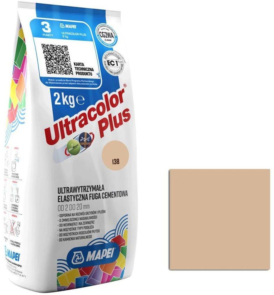 Fuga elastyczna Mapei Ultracolor Plus 138 migdałowa 2 kg