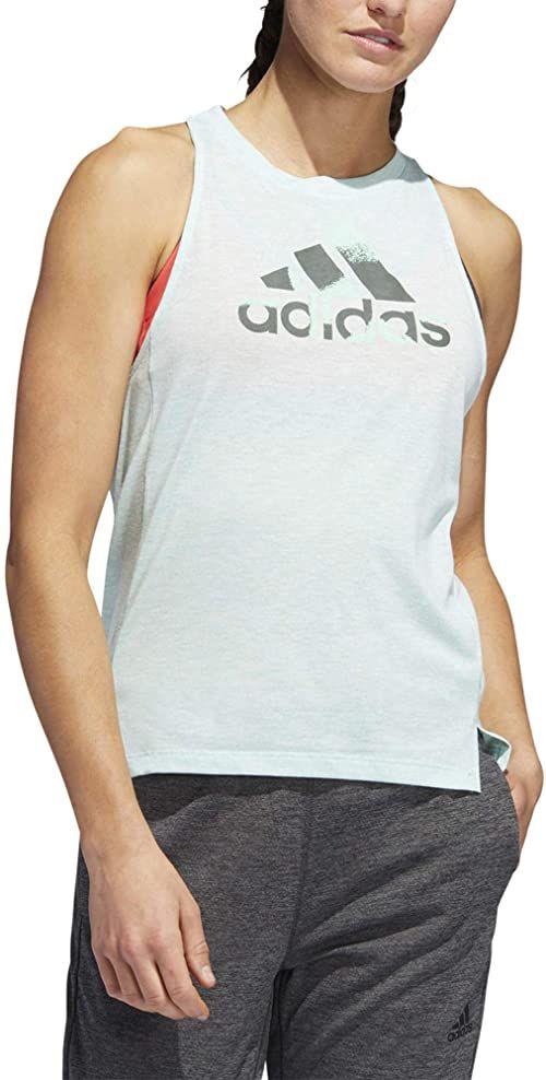 adidas Damska koszulka Boxy Badge Of Sports Tank-Top-Mint, ciemnoszara koszulka, M