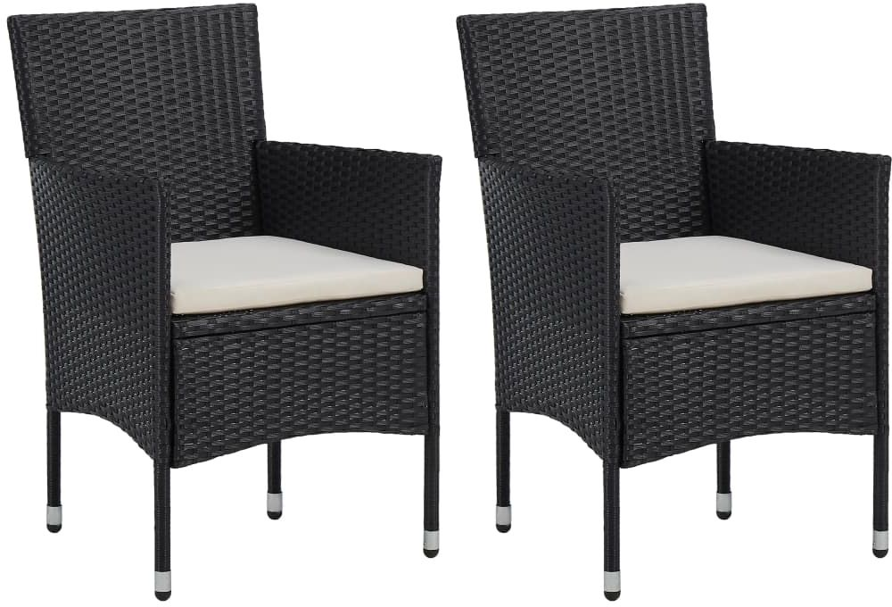 Zestaw czarnych krzeseł ogrodowych - Emiko 2X