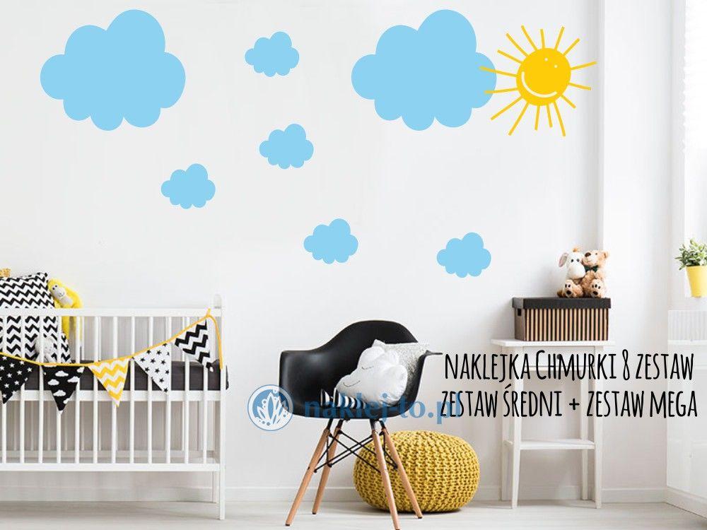 naklejki dekoracyjne Chmurki 8 zestaw naklejka na ścianę