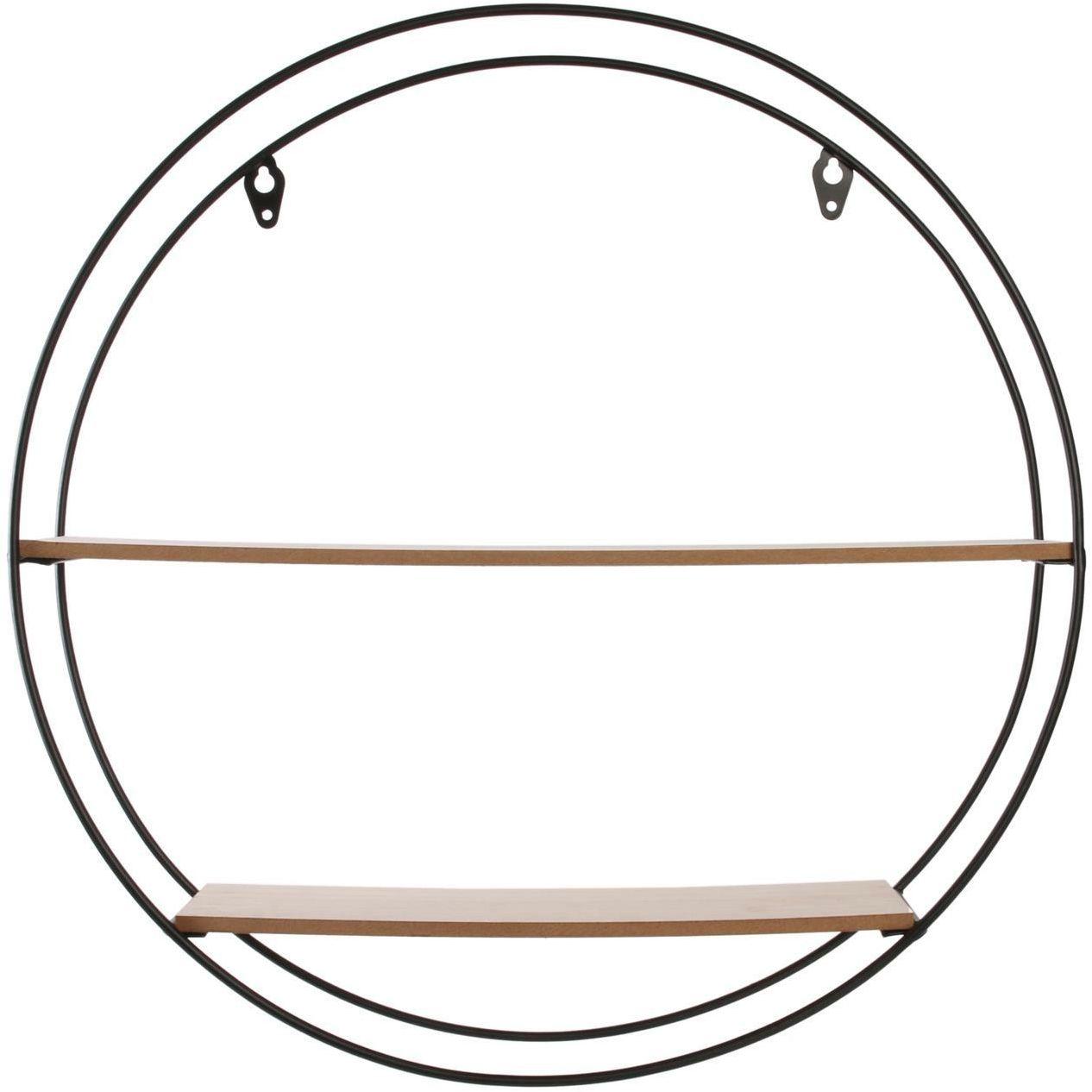 Półka RING czarny-jasny dąb