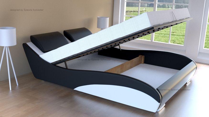 Łóżko Stilo-2 Premium z pojemnikiem - velur