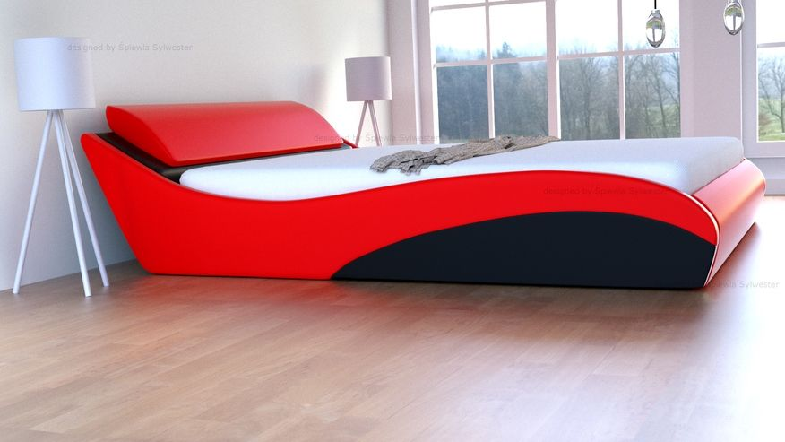 Łóżko Stilo-2 Lux Premium z pojemnikiem - velur