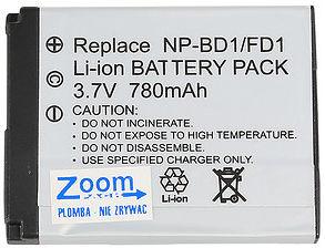 Akumulator Zoom NP-BD1/780mAh Sony