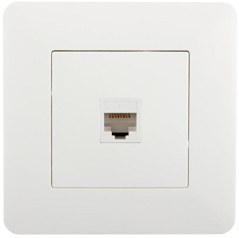 Gniazdo komputerowe ARTEZO biały HBF