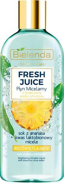 BIELENDA FRESH JUICE  rozświetlający płyn micelarny  ananas 500 ml