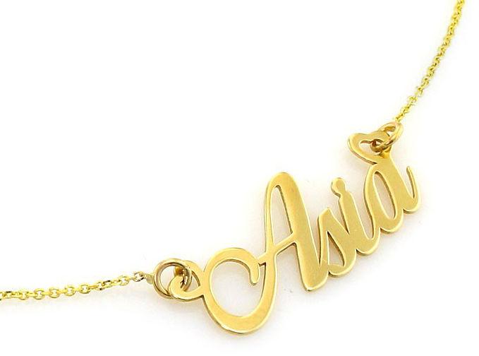 Złoty naszyjnik 585 celebrytka z imieniem Asia 2,15 g