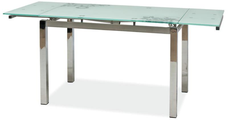 Stół szklany GD-017 biały (mleczny)