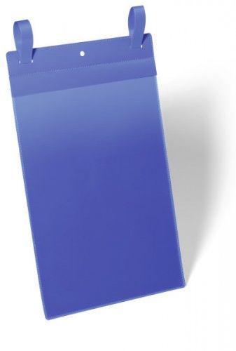 Kieszeń magazynowa z paskiem montażowym DURABLE 210x297mm niebieska (50szt.) 175007