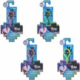 Hasbro DreamWorks Trolls World Tour Tiny Dancers zestaw niespodzianka 4-częściowy zestaw serii 3, małe figurki, klipsy, pierścienie i okulary, dla dzieci w wieku od 4 lat