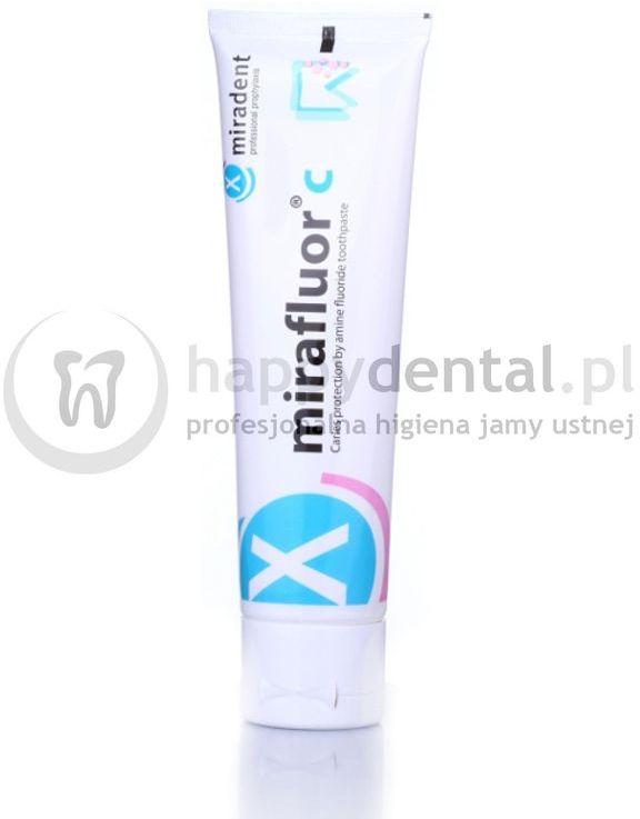 MIRADENT Mirafluor C 100ml - Pasta do zębów przeciwpróchnicza z aminofluorkiem (1250ppm)