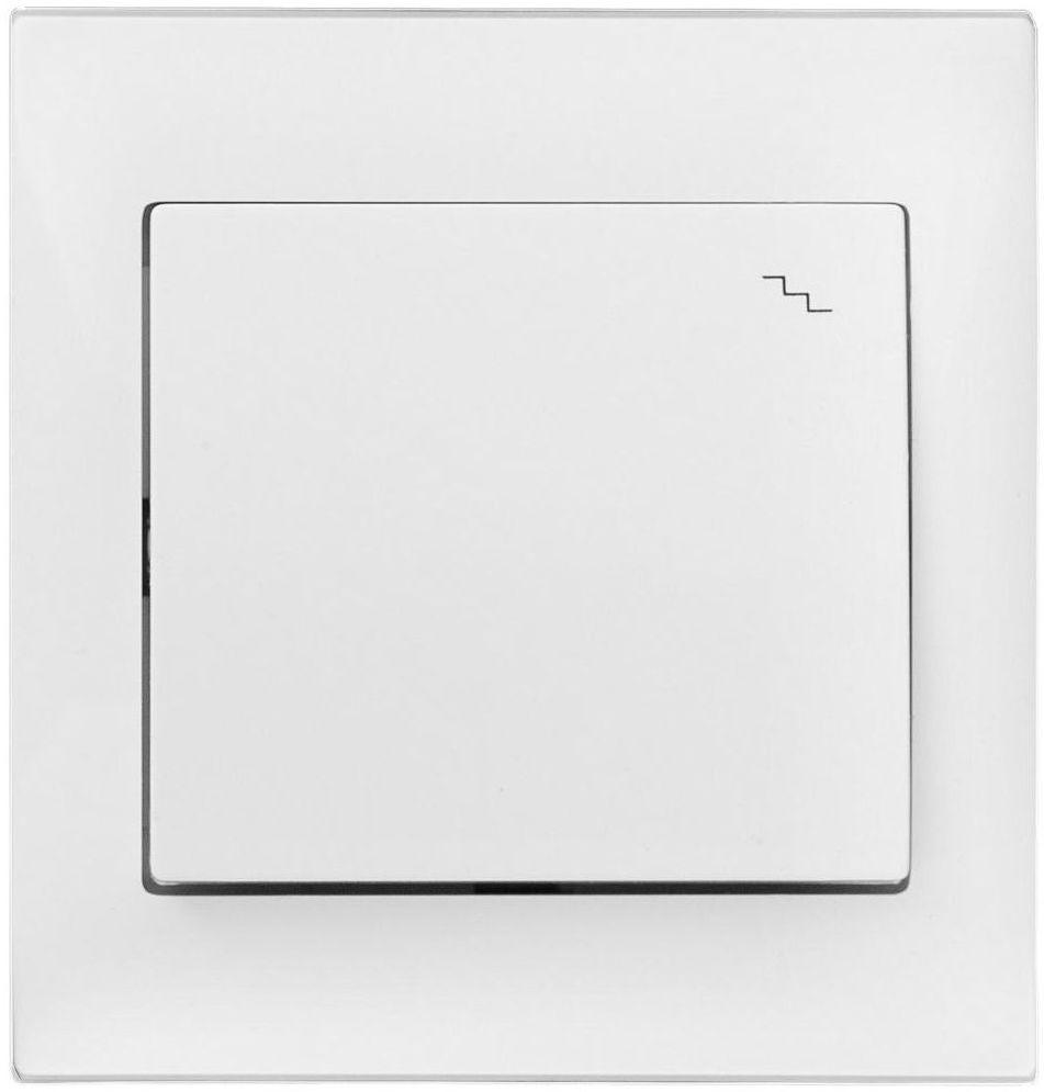 Włącznik pojedynczy schodowy INES Biały POLMARK
