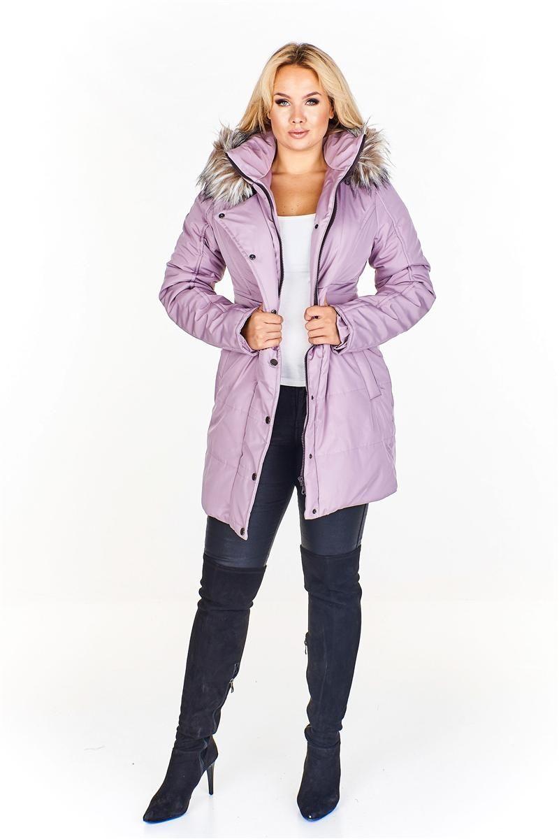 Pikowana dłuższa kurtka z kapturem