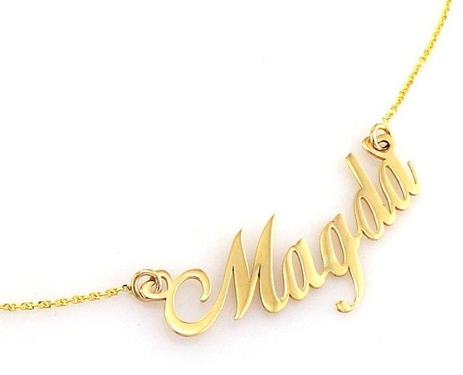 Złoty naszyjnik 585 celebrytka z imieniem Magda 2,62 g