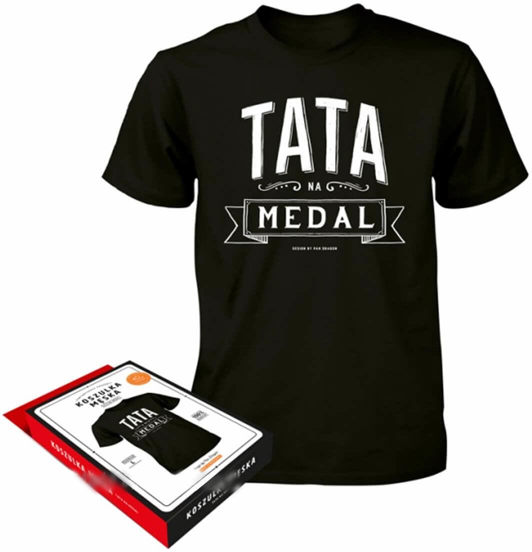 Koszulka Vintage z napisem Tata na medal