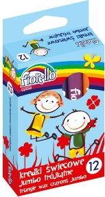 Kredki świecowe trójkątne FIORELLO 12 kolorów /170-2209/