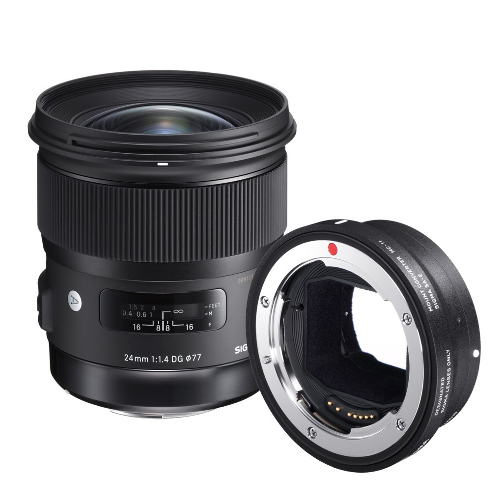 Obiektyw Sigma Art 24mm f/1,4 DG HSM Canon + konwerter MC-11