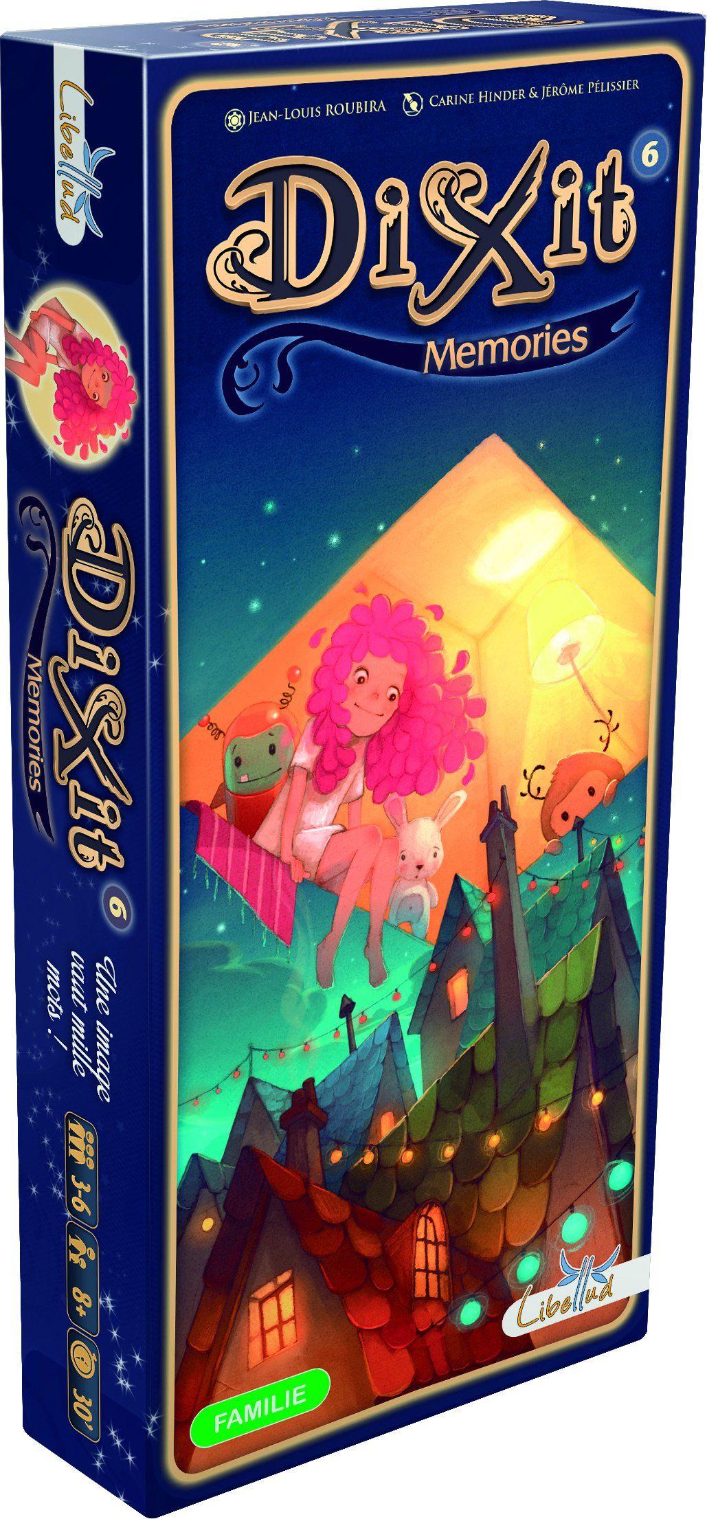 Asmodee 3138 Dixit 6 - Memories rozszerzenie, gra opowieściowa, gra rodzinna, niemiecki