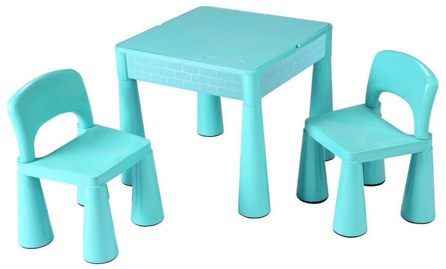 New Baby Komplet dla dzieci stolik i krzesełka 3 elem., miętowy