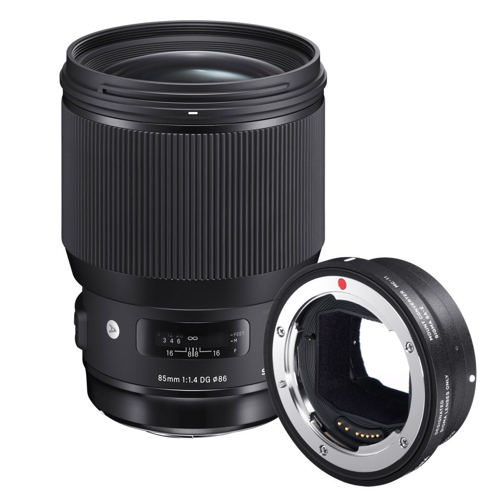 Obiektyw Sigma Art 85mm f/1.4 DG HSM Canon + konwerter MC-11