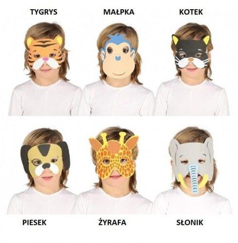 Maska Zwierzątko z pianki, wzory