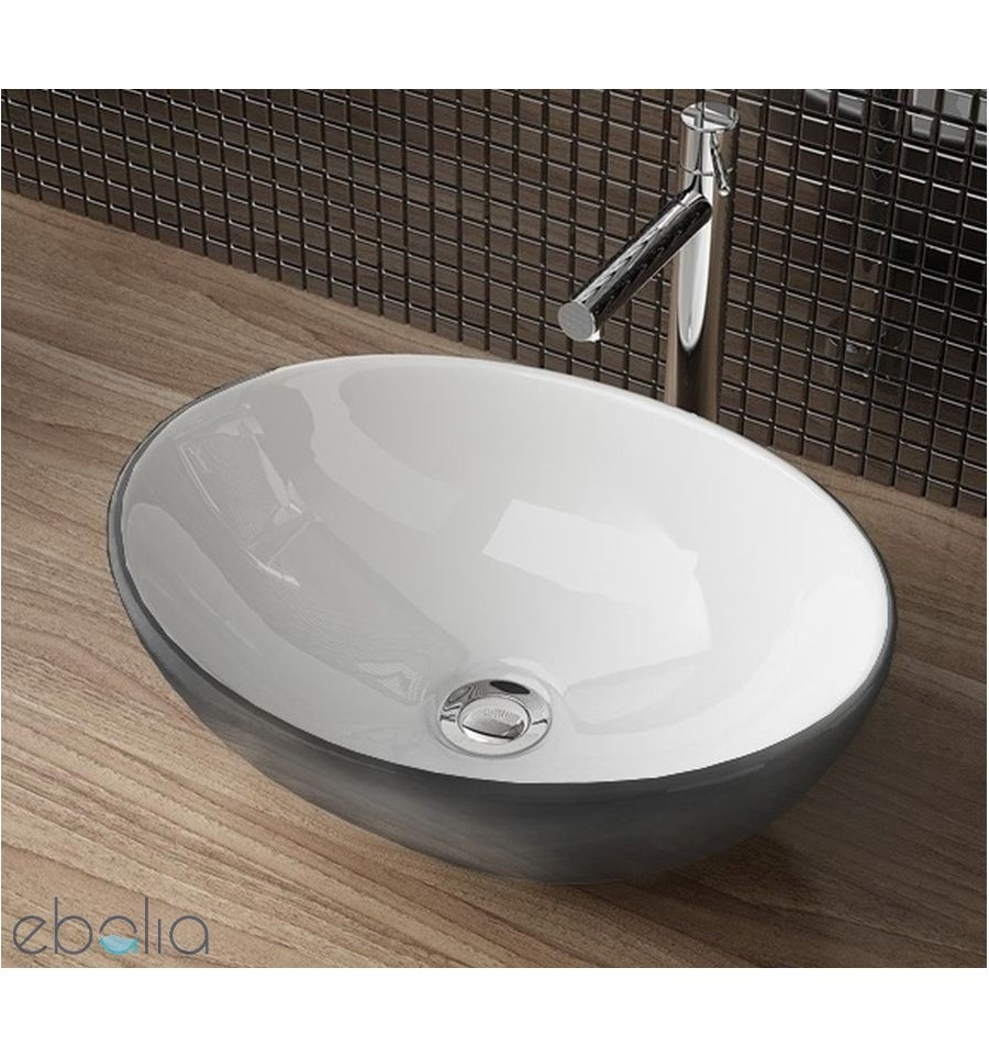 Umywalka nablatowa 40 Sofia Silver Rea (REA-U0420)