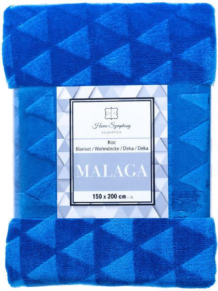 Koc z Mikrofibry Malaga Niebieski