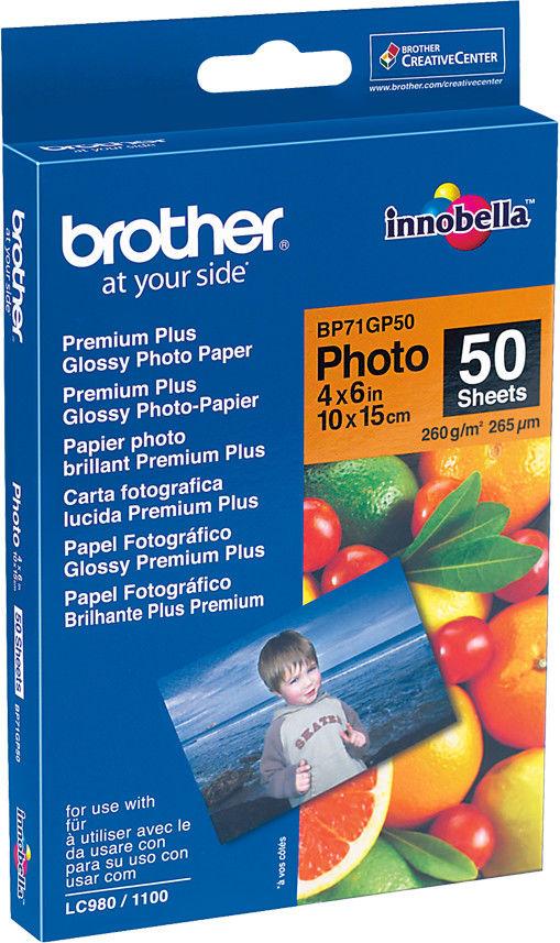 Papier foto Brother BP71GP50 10x15 260g 50ark.