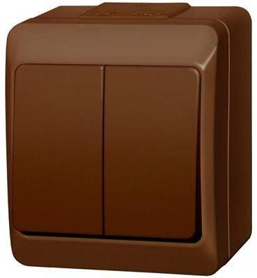 Wyłącznik świecznikowy Elektro-Plast Hermes natynkowy brązowy