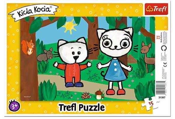 Puzzle ramkowe 15el Kicia Kocia w lesie Trefl (31387 TREFL)