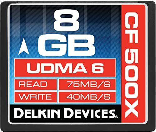 Delkin Compact Flash karta pamięci (8 GB; 500x)