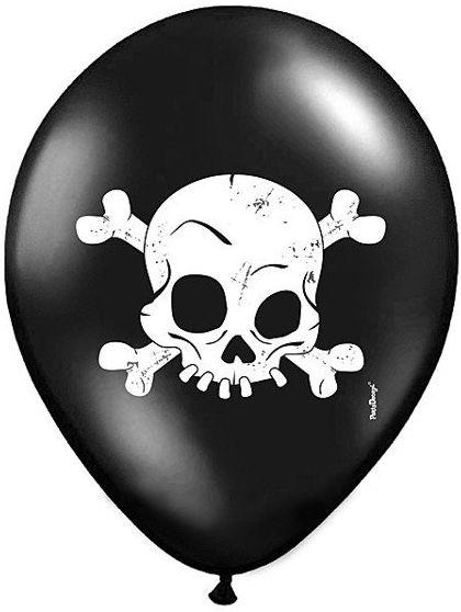 Balony na Halloween Czaszki 30cm 5szt SB14P-120-010/5