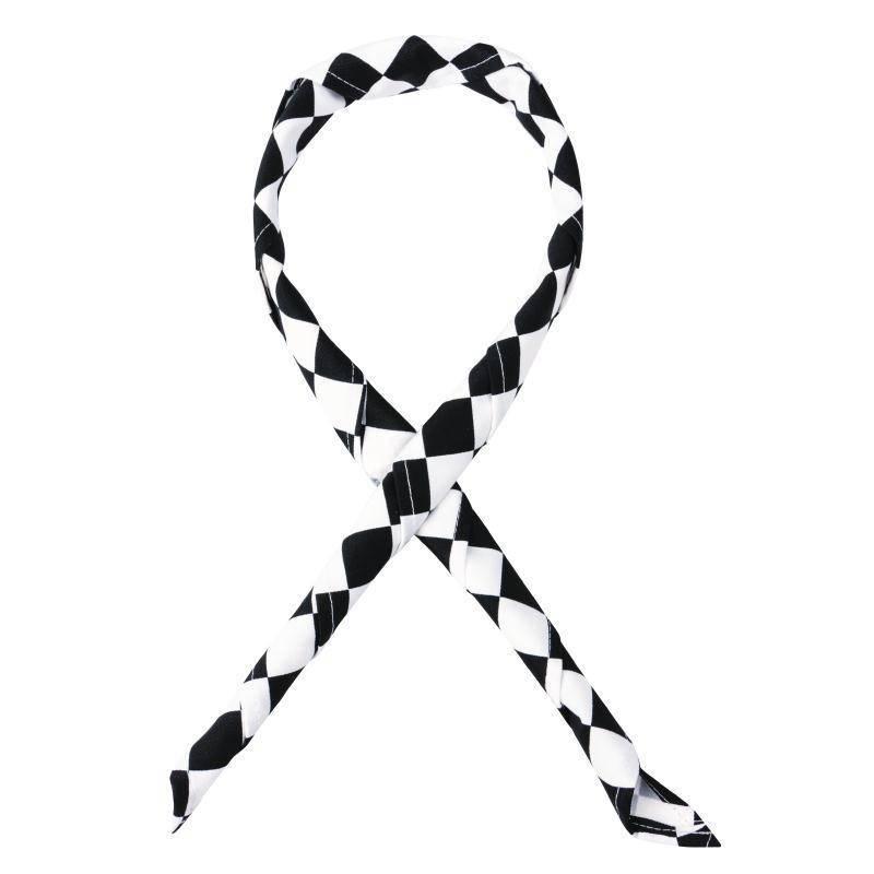 Czarno-biała apaszka 63,5x(H)91,4cm