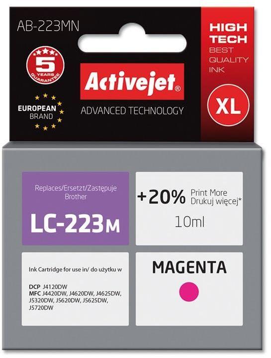 Tusz Activejet AB-223MN (zamiennik Brother LC223M; Supreme; 10 ml; czerwony)