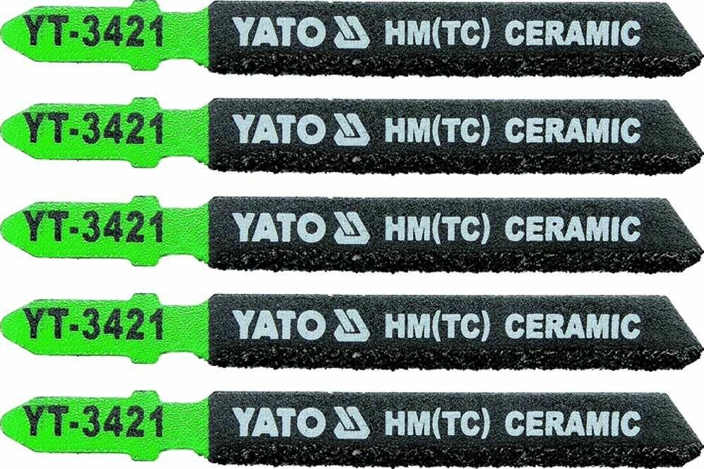 Brzeszczot do wyrzynarki typ t, do ceramiki, 5 szt Yato YT-3421 - ZYSKAJ RABAT 30 ZŁ