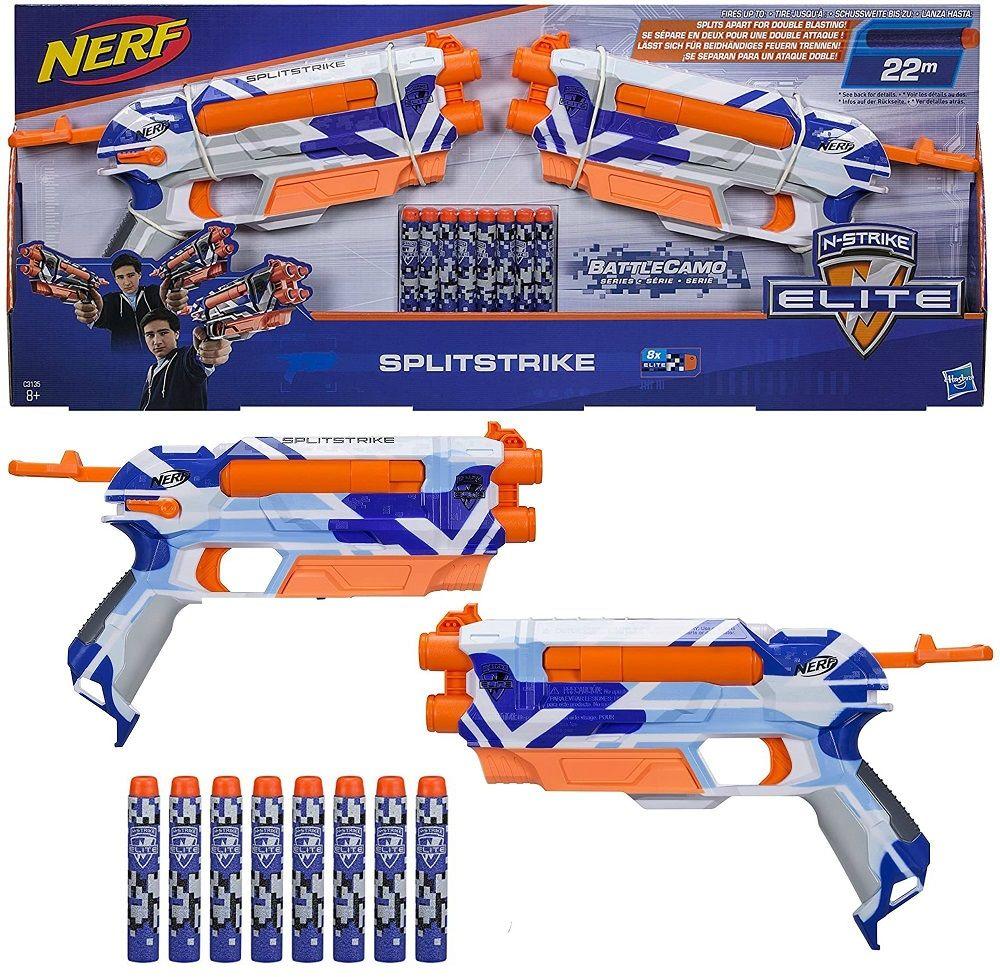 Pistolety Nerf C3135 2 szt Splitstrike na strzałki
